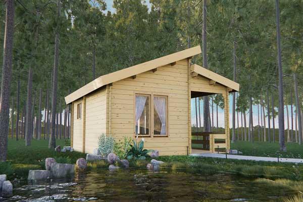 maison kit en bois